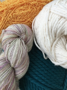 When you are just learning to knit, you may want to avoid yarns such as these. Heavily textured, cotton very thick and very thin.